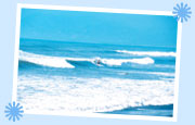 Surfing at Sabang Beach